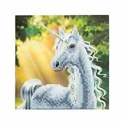 Sunshine Unicorn Crystal Art Card 18x18