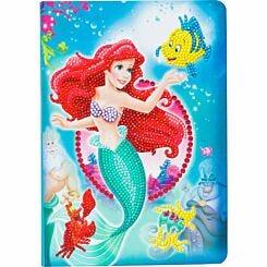 The Little Mermaid Crystal Art Notebook 26x18