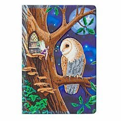 Owl and Fairy Tree Crystal Art Notebook 26x18