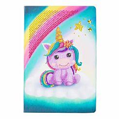Unicorn Smile Crystal Art Notebook 26x18
