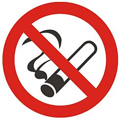 No Smoking Vehicle Sign 90mm Diameter