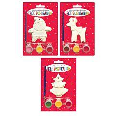 Paint Your Own Christmas Decoration Set