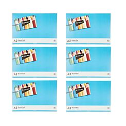 Ryman Sketch Pad A2 100gsm 60 Pages 30 Sheets Pack of 6
