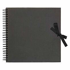All Purpose Scrapbook with Ribbon Tie 12x12 Inch Black