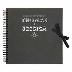 Personalised Scrapbook 12x12 Travel Black Silver
