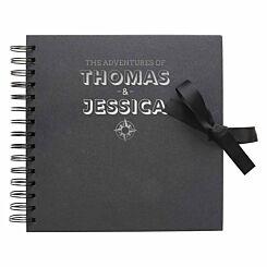 Personalised Scrapbook 8x8 Travel Black Silver