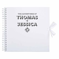 Personalised Scrapbook 12x12 Travel Black Foil White