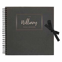 Personalised Scrapbook 12x12 Memories Black Silver