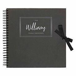 Personalised Scrapbook 12x12 Memories Black Copper