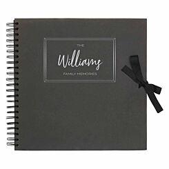 Personalised Scrapbook 12x12 Memories Black