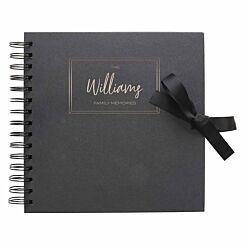 Personalised Scrapbook 8x8 Memories Black Copper