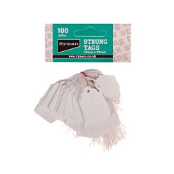 Strung Tag 24x37mm Pack of 100