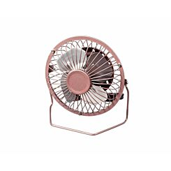 Portable 4 Inch USB Mini Desk Fan in Rose Gold