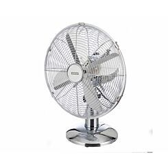Status 12 inch Chrome Oscillating Desk Fan