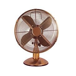 Status 12 inch Brass Oscillating Desk Fan