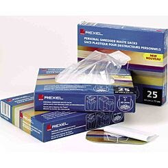 Rexel Plastic Shredder Waste Sack for Wide Entry Shredders 175L Pack of 100