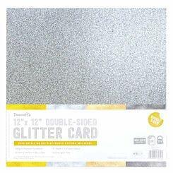Dovecraft Double Sided Glitter 12x12 Bumper Pack 12 Sheet Metallics