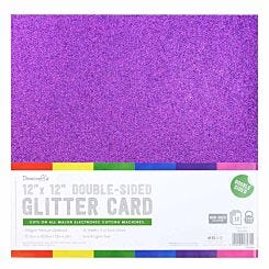 Dovecraft Double Sided Glitter 12x12 Bumper Pack 12 Sheet Rainbows