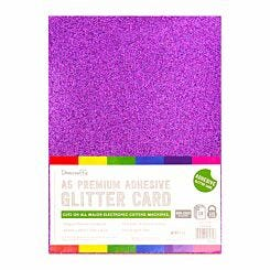 Dovecraft A5 Adhesive Glitter Sheets Pack of 12 Sheets Rainbow Bright