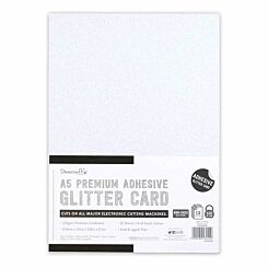 Dovecraft A5 Adhesive Glitter Sheets Pack of 12 Sheets Black and White