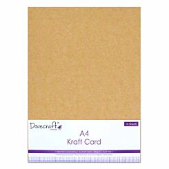 Dovecraft A4 Kraft Card 240gsm 10 Sheets Brown