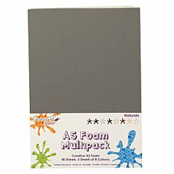 Dovecraft Creative Foam Sheets A5 Multipack Naturals Pack of 40