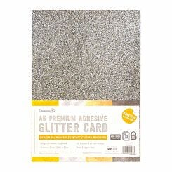 Dovecraft A5 Adhesive Glitter Sheets Pack of 12 Sheets Metallic