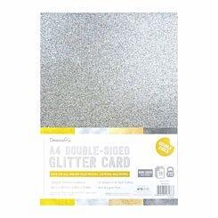 Dovecraft A4 Double Sided Glitter Bumper Pack 12 Sheet Metallics