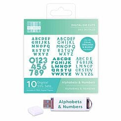 First Edition Digital Die Alphabets and Numbers