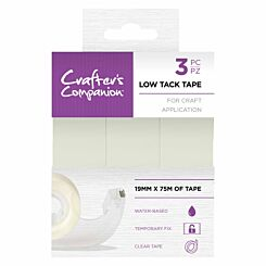 Crafters Companion Low Tack Tape Pack of 3