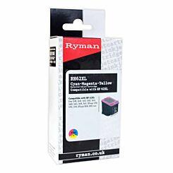 Ryman RH62XL CMY HP 62XL Compatible Ink Cartridge