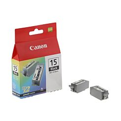 Canon BCI-15BK Ink Cartridge Pack of 2 5.3ml