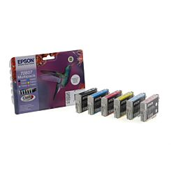 Epson T0807 Ink Cartridge Pack of 6