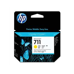 HP 711 3 Pack 29ML Ink Yellow