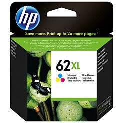 HP 62XL High Yield Tri-color Original Ink Cartridge C2P07AE