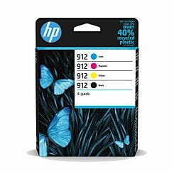 HP 912 CMYK Multipack Ink Cartridge Pack of 4