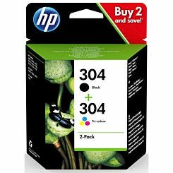 HP 304 Combo Pack Black and Colour