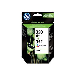 HP 350/351 Printer Ink Cartridge Multipack