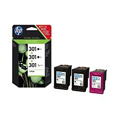 HP 301 Triple Pack Original Ink Cartridge