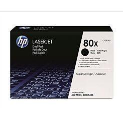 HP 80X Dual Pack Toner Black