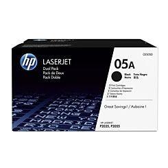 HP 05A Dual Pack Toners Black CE505D