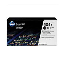 HP 504X Dual Pack Laser Toner Black