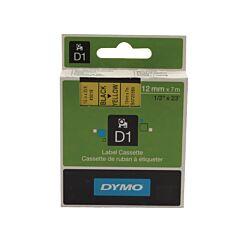 Dymo Black on Yellow 4500 D1 Standard Tape 12mm x 7m