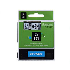 Dymo D1 1000 Tape 12mm Black on Clear