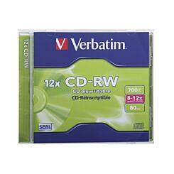 Verbatim CD-RW Jewel Case Single