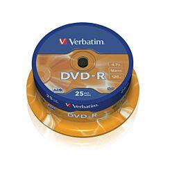 Verbatim DVD-R 16x Spindles 4.7GB Pack of 25