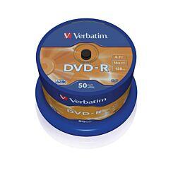 Verbatim DVD-R 16x 4.7GB Spindles Pack of 50
