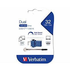 Verbatim Dual USB 3.0 Flash Drive for USB-C