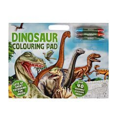 Dinosaurs Colouring Pad with 40 Reusubale Stickers