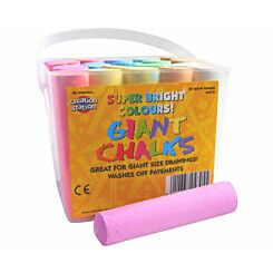 Creation Station Giant Chalks Tub of 20 Assorted Colours